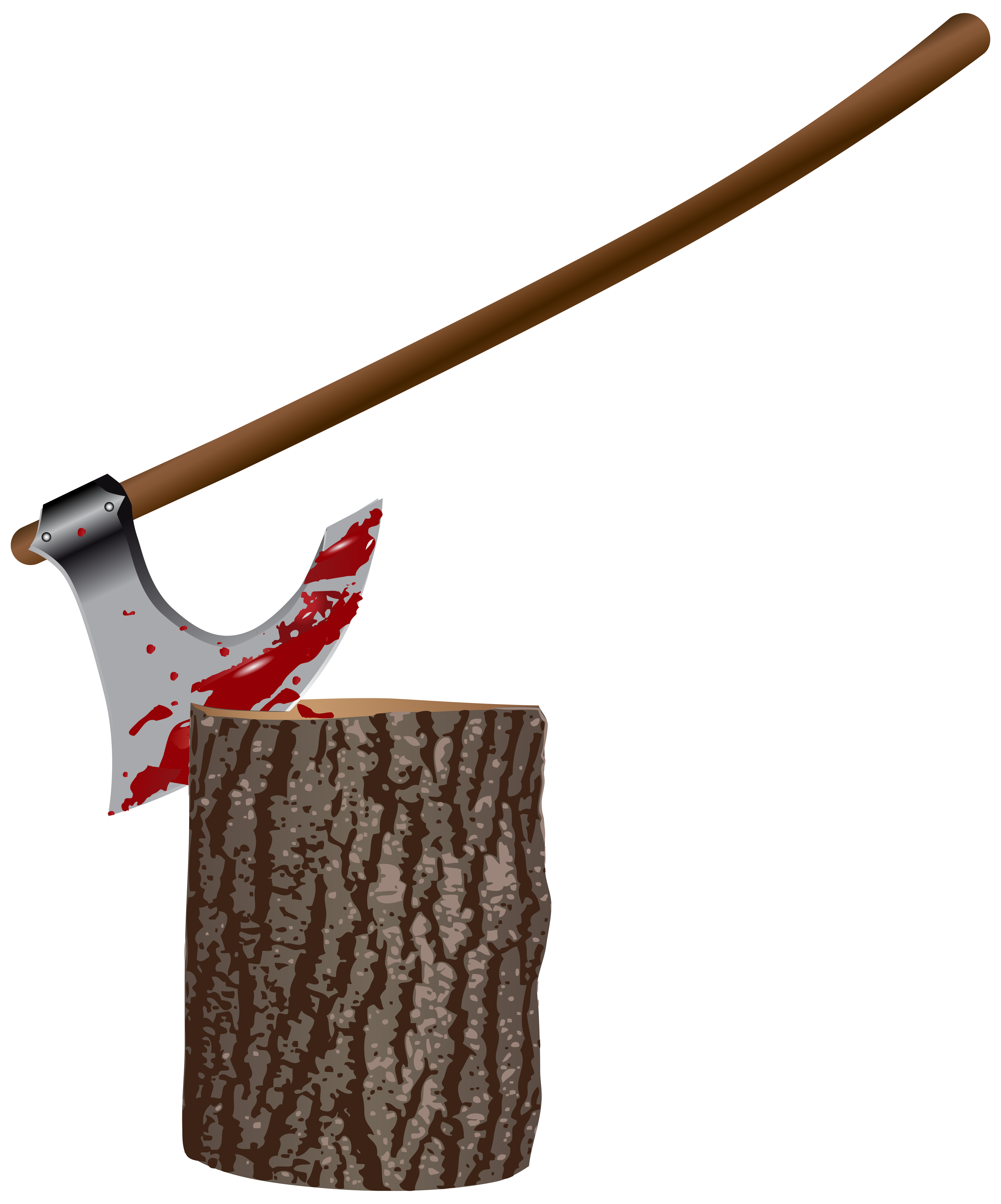 Bloody spear png. Ax and stump clipart