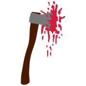 Ax clipart bloody. Blood women s t