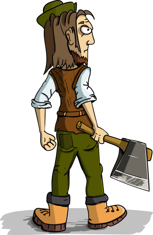 Ax drawing lumberjack axe. Cartoon free commercial clipart