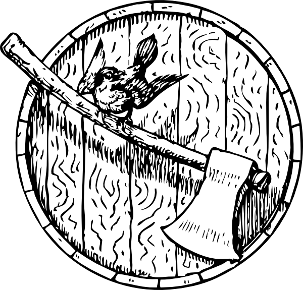 Ax drawing axe line. Sparrow barrelhead clip art