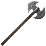 Ax drawing double bladed axe. Headed battle axes sided