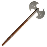 Ax drawing medieval. Double headed battle axes