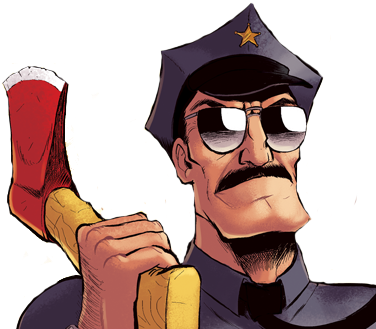 Ax drawing old. Axe cop the official