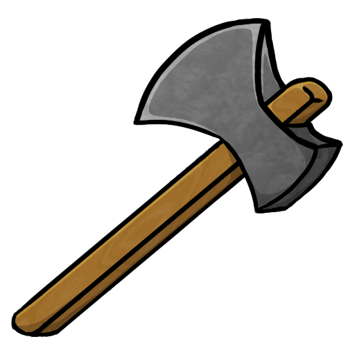 Ax drawing stone axe. Icon free of minecraft
