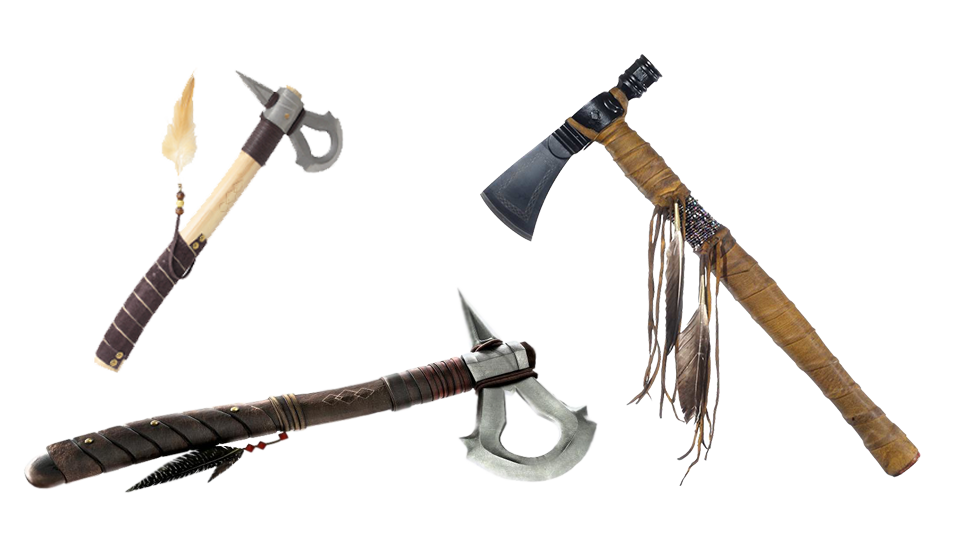 Weapon drawing tomahawk. History of axe throwing