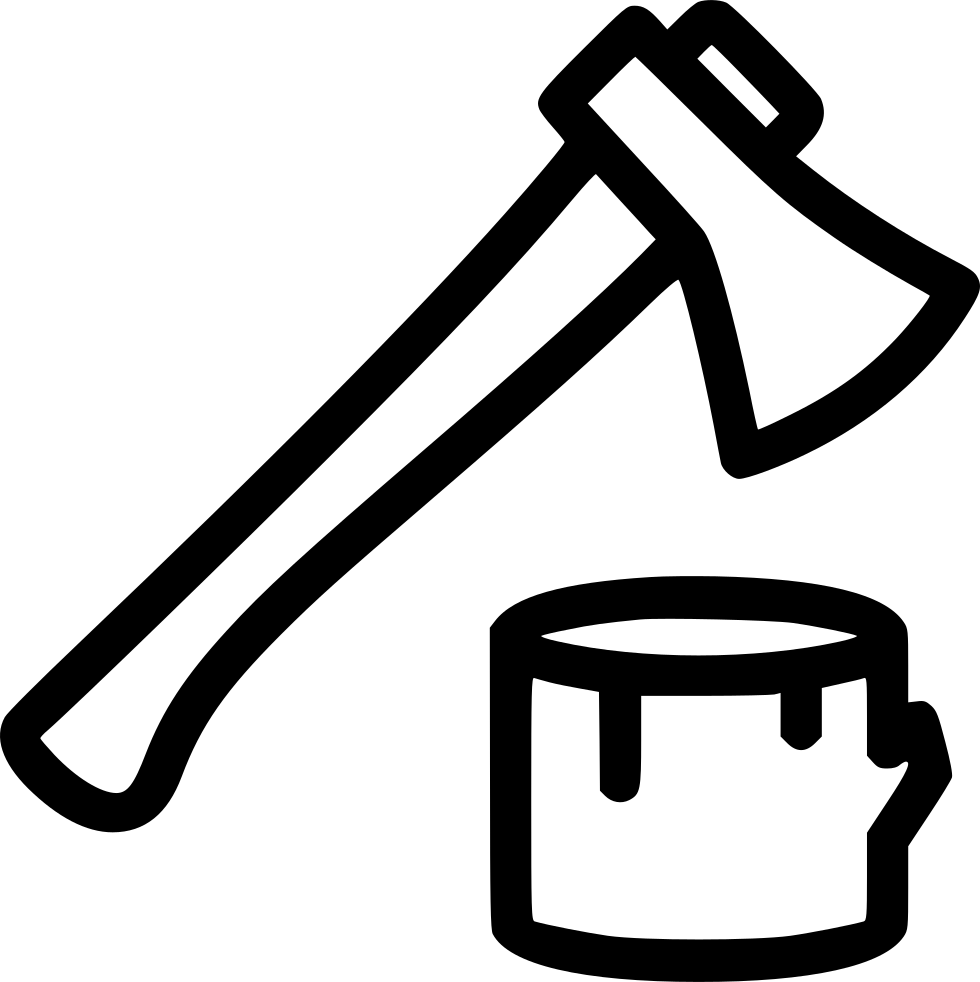 Ax drawing wood. Svg png icon free