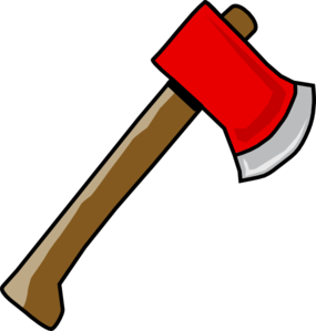 Ax vector red. Hatchet clip art at