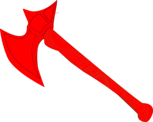 Ax vector red. Battle axe clip art