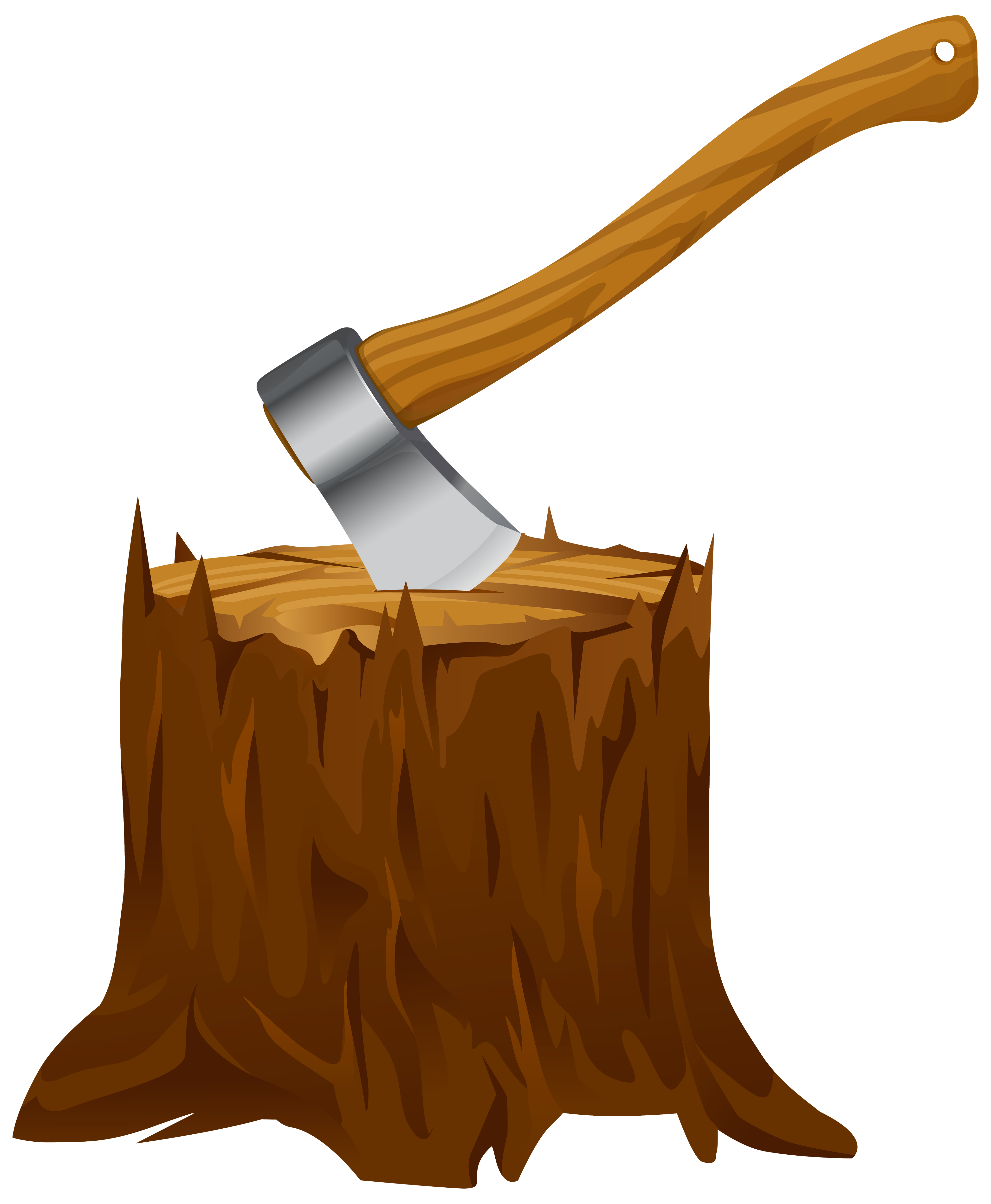 Axe clipart. Tree stump with png