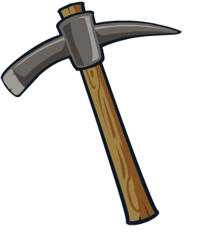 Axe clipart mining. Pencil and in color
