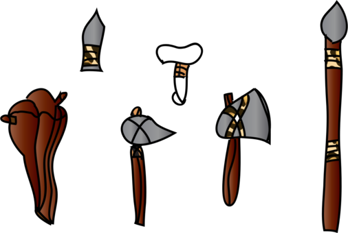 Cave clipart stone age cave. Pollaxe battle axe weapon