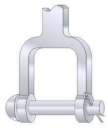 Axle clip cotter pin. Clevis fastener wikipedia a