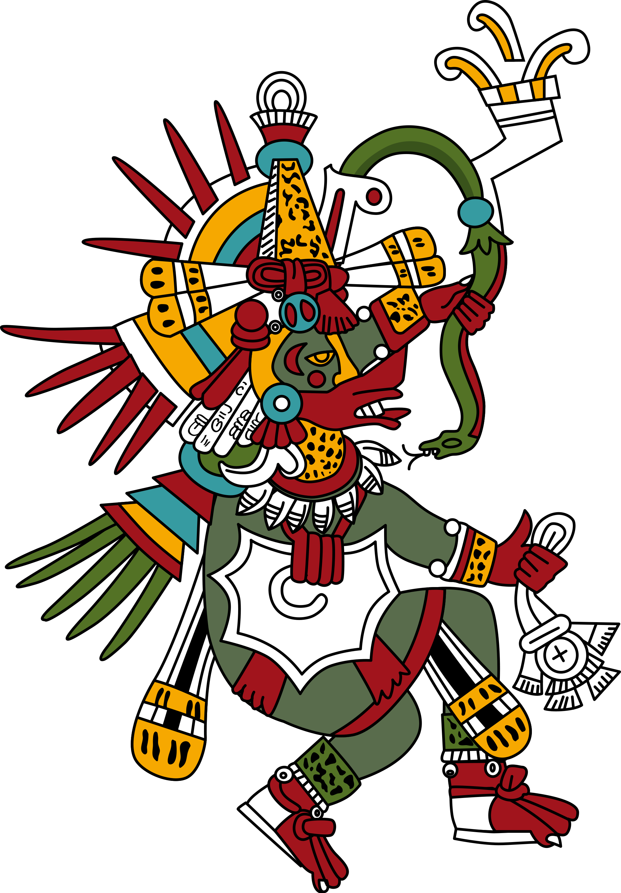Aztec clipart colorful feather. Quetzalcoatl wikipedia