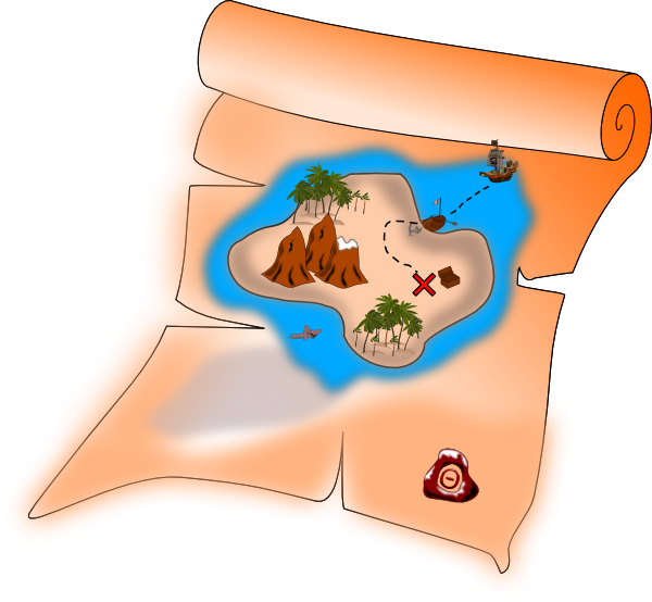 Treasure clipart found treasure. Free pirate map download