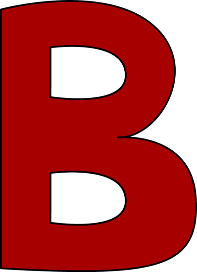 B clipart. Large
