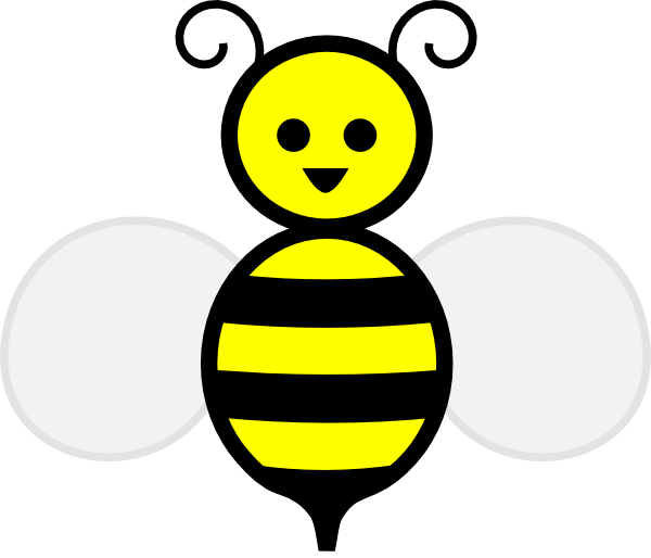 Shapes clipart bee. Free bumble template printable