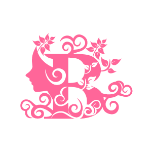 B clipart pink. Graphic design of flower