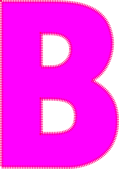 B clipart pink. Letter clip art at