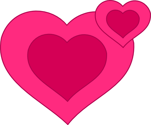 B clipart pink. Two hearts together i