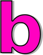 B clipart pink. Lowercase signs symbol alphabets