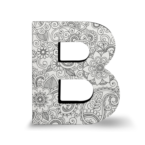 B drawing block letter. Color joy dci gift