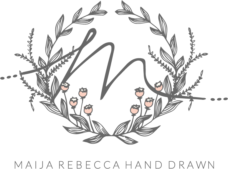 Maija rebecca hand drawn. Drawing friendship black and white clip freeuse stock