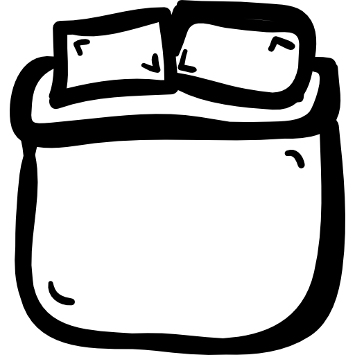 Of double size hand. Drawing bed black and white clipart freeuse