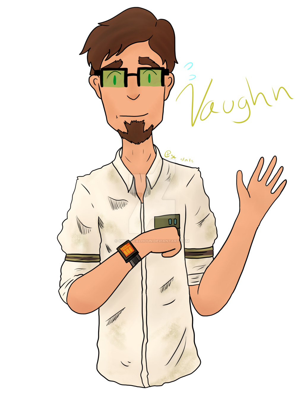 B drawing vaughn. By sheilacalhoun on deviantart
