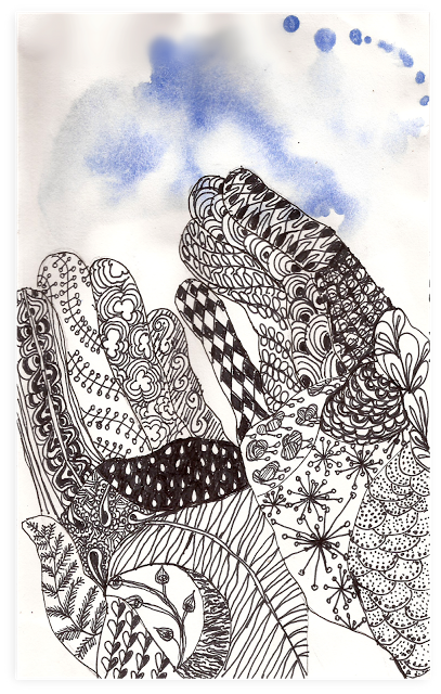 Celestial drawing zentangle. The artists house pen