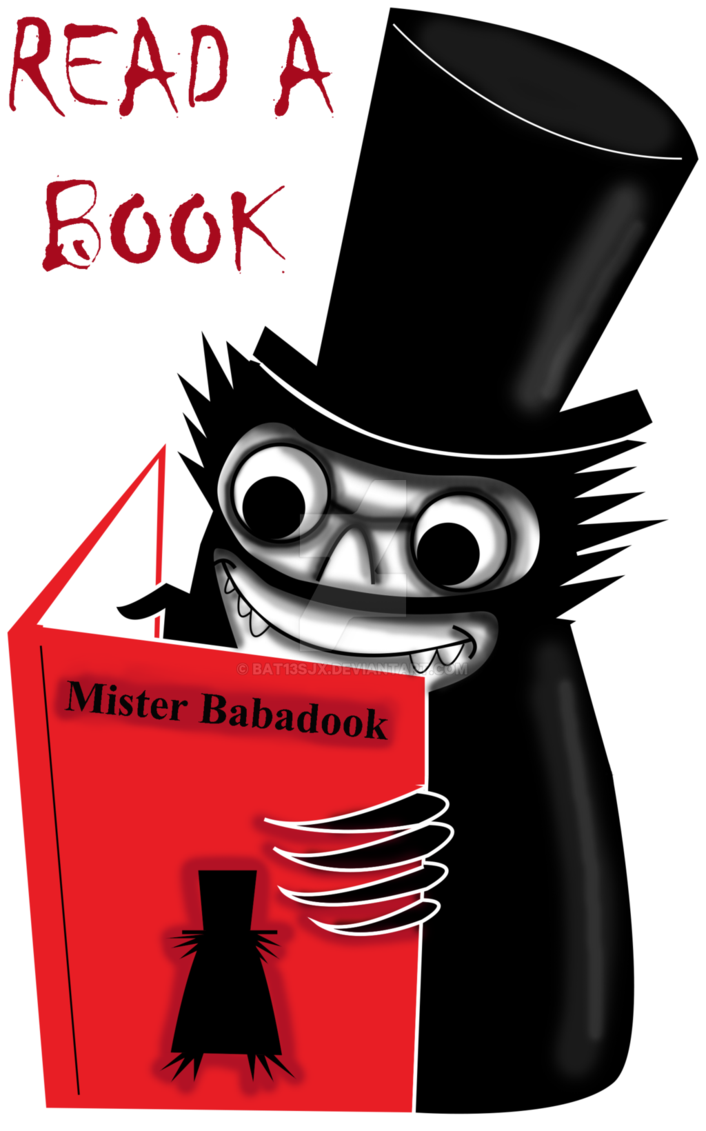 Babadook transparent mister. Read a book with