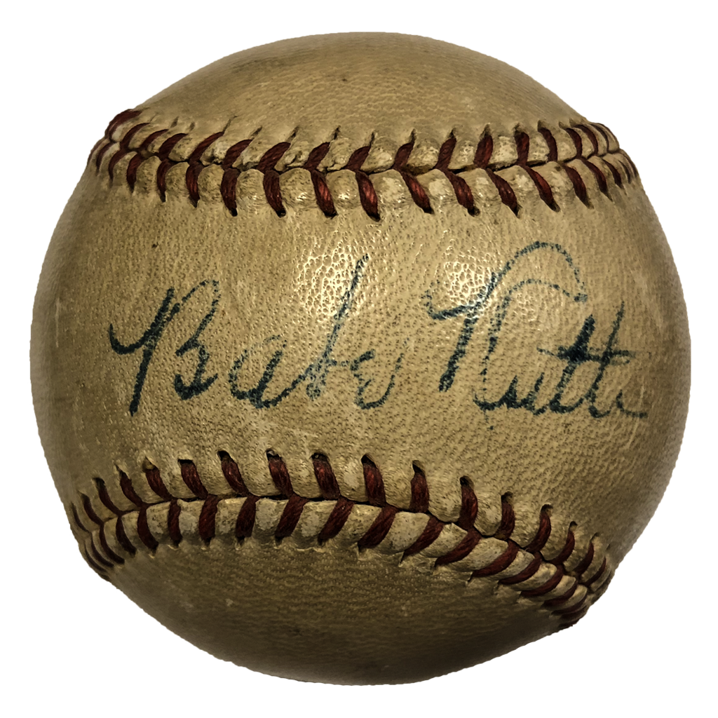 Babe ruth signature png. Autographed baseball collector s