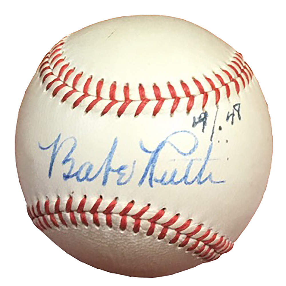 Babe ruth signature png. Mile high card company
