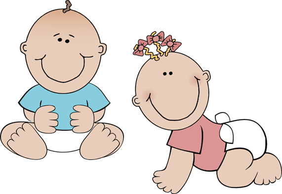 Twin Baby Clipart