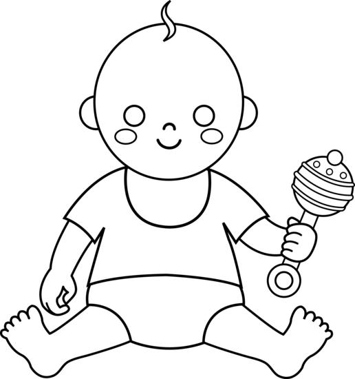 Outline clipart baby. Free download clip art