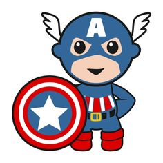 Baby clipart captain america. Superhero boy with thor