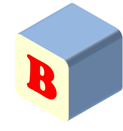 b drawing block letter