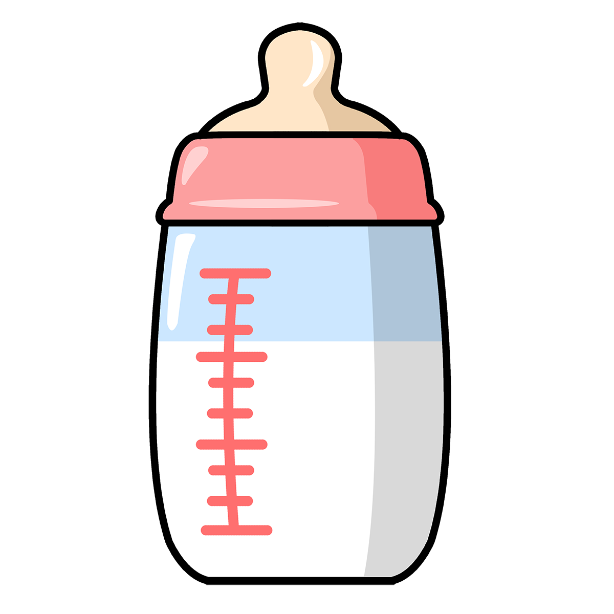 Drawing bottles cute. Free to use public