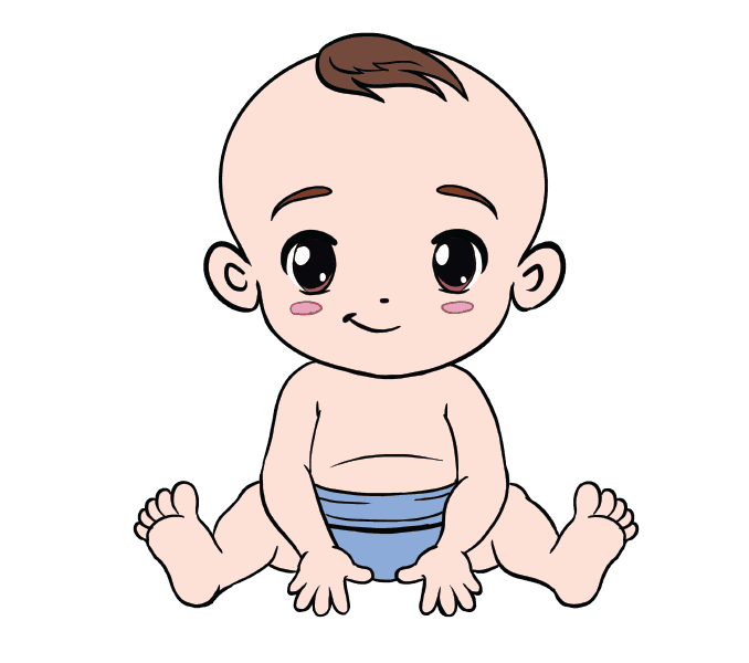 Crawling drawing at getdrawings. Infant clipart little baby clip stock