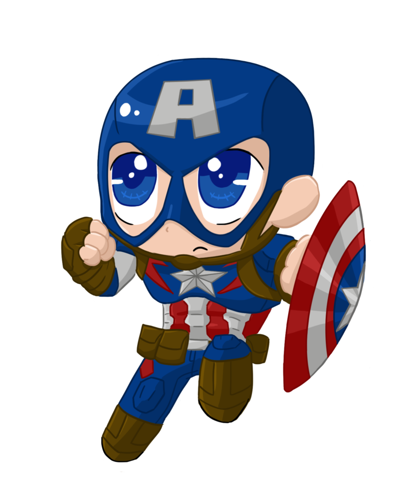 Typographic drawing captain america. Captainamerica aou chibi by