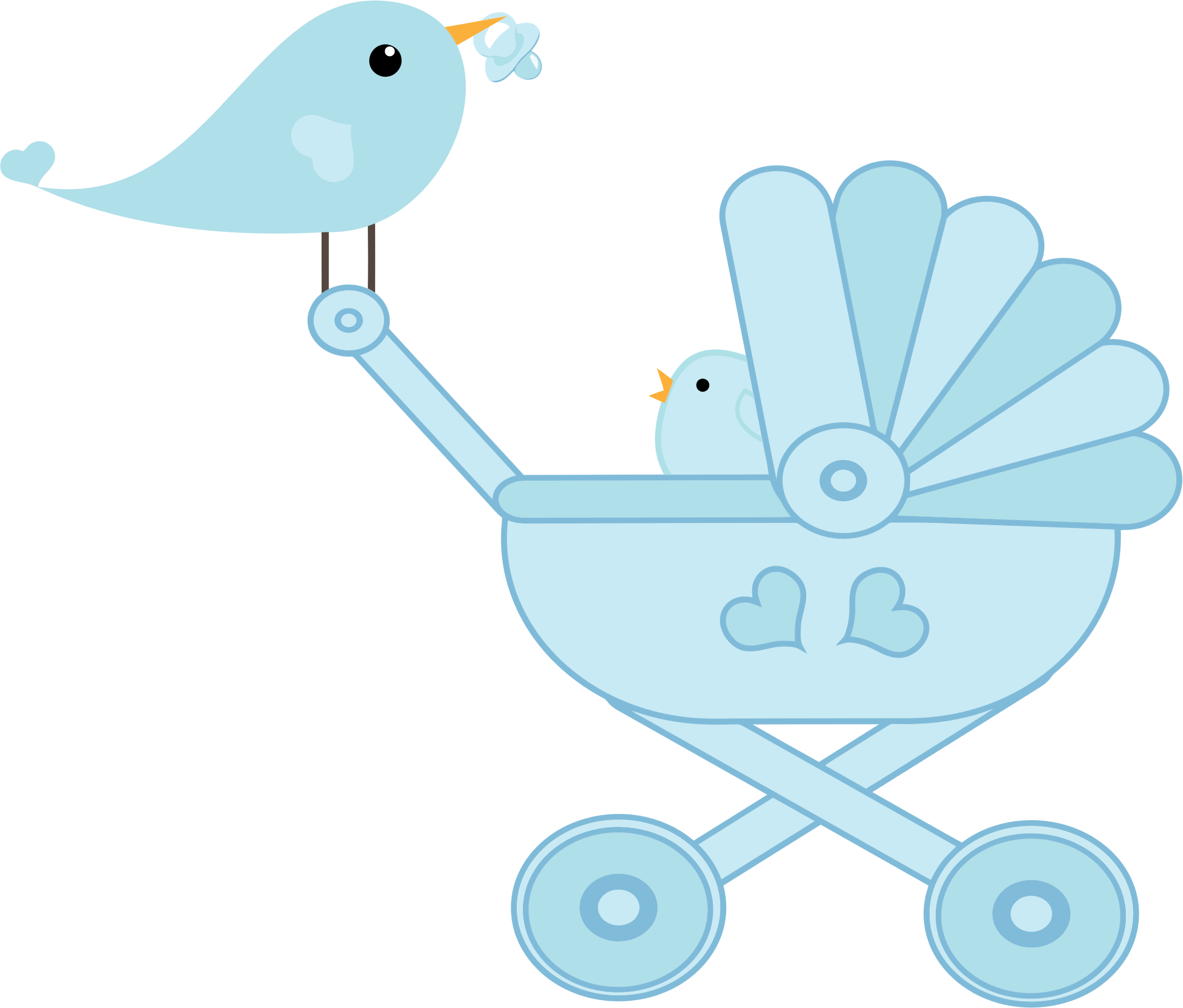 Baby carriage png. Bird stroller icons free