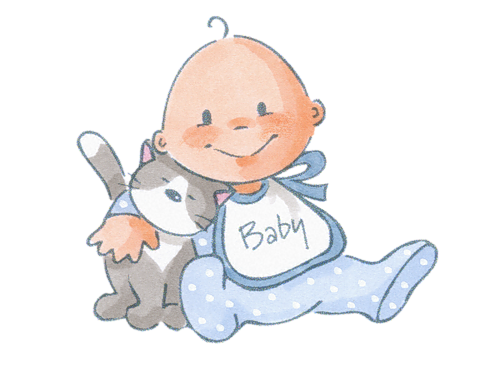 Baby cartoon png. With cat pinterest babies