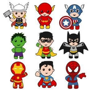 Superhero boy with thor. Baby clipart captain america clipart royalty free