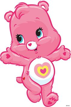 Baby clipart care bear. Lucky and loving it
