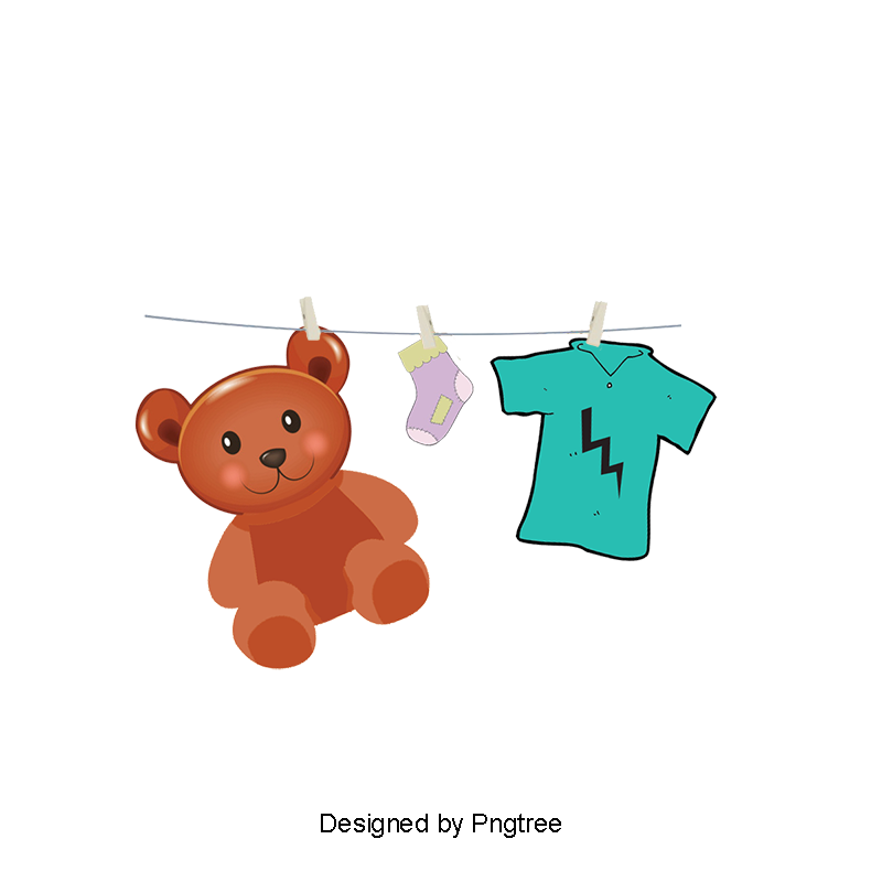Toys vector kid items. Baby clothes png vectors