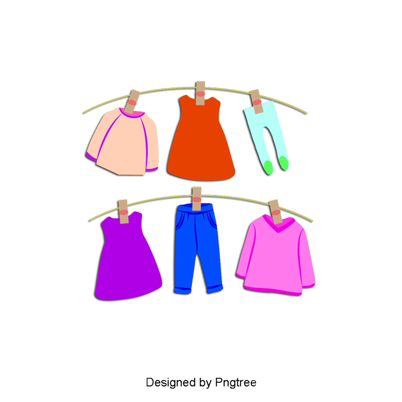 Clothes clipart. Vector baby dry png
