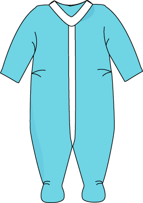 Pajama drawing clipart. Free baby items cliparts