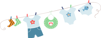 Clothes line png. Baby image