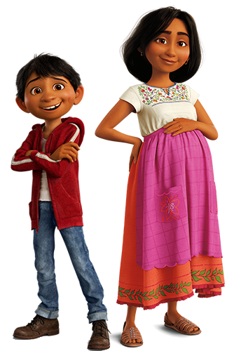 Baby coco movie png. Miguel rivera and his