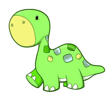 Cartoon dinosaur png. Green and blue baby