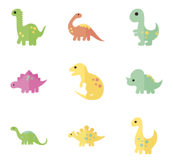 Baby dinosaur png. Icon packs vector